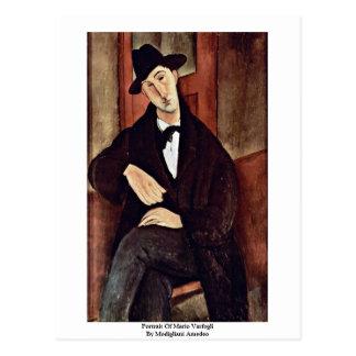 Portrait Of Mario Varfogli By Modigliani Amedeo Postcard