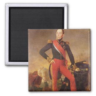 Portrait of Marquis Emmanuel de Grouchy 2 Inch Square Magnet