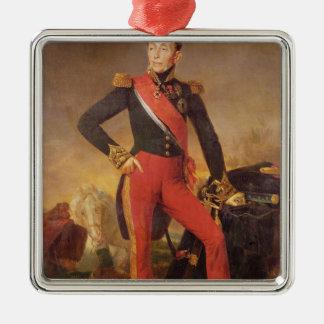Portrait of Marquis Emmanuel de Grouchy Metal Ornament