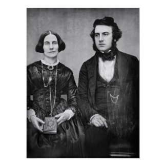 PORTRAIT of MARRIED COUPLE c. 1845 Poster