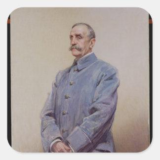 Portrait of Marshal Ferdinand Foch  1920 Square Sticker