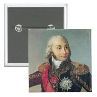 Portrait of Marshal Jean-Baptiste Jourdan 2 Inch Square Button