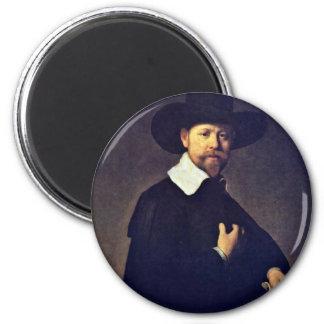 Portrait Of Marten Looten By Rembrandt Van Rijn Refrigerator Magnets