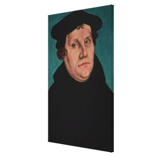Portrait of Martin Luther, 1529 Canvas Print