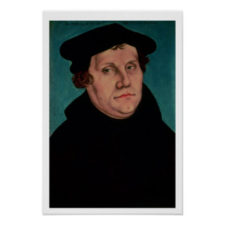 Portrait of Martin Luther, 1529 Print