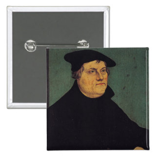 Portrait of Martin Luther  1543 2 Inch Square Button