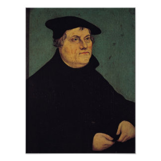Portrait of Martin Luther  1543 Print