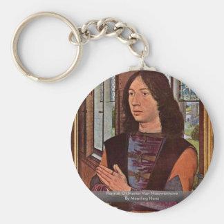 Portrait Of Martin Van Nieuwenhove By Memling Hans Key Chains