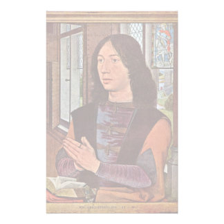 Portrait Of Martin Van Nieuwenhove By Memling Hans Customized Stationery