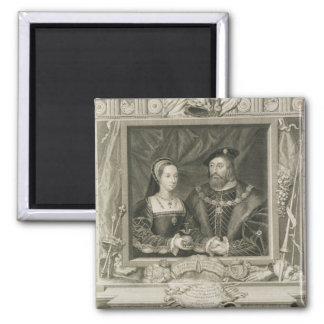 Portrait of Mary (1496-1533) Queen of France, and Fridge Magnets