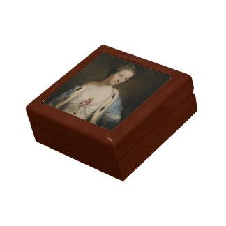 Portrait of Mary Barnardiston by Joshua Reynolds Jewelry Box