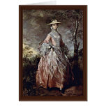 Portrait Of Mary Countess Howe By Thomas Gainsboro Greeting Card