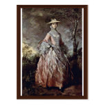 Portrait Of Mary Countess Howe By Thomas Gainsboro Postcard