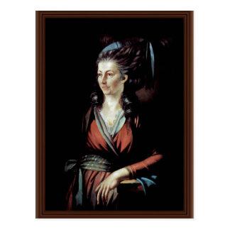 Portrait Of Mary Hess By Johann Heinrich Füssli B Post Card