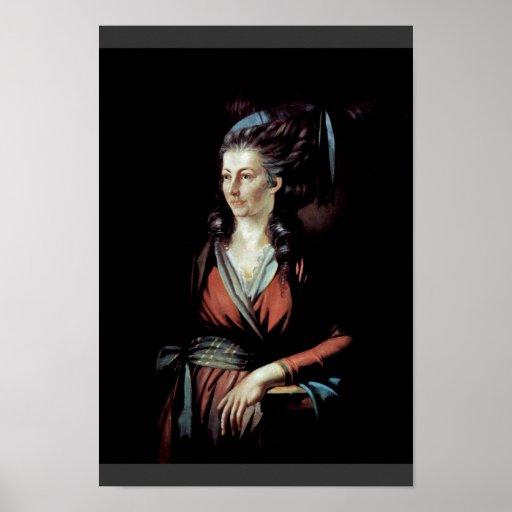 Portrait Of Mary Hess By Johann Heinrich Füssli (B Print
