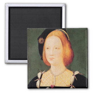 Portrait of Mary of England Magnets