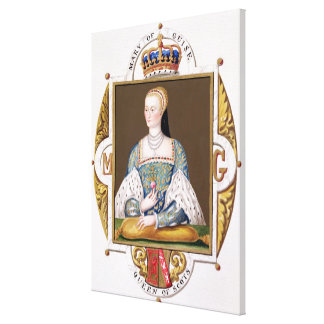Portrait of Mary of Guise (1515-60) Queen of Scotl Canvas Print