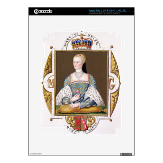 Portrait of Mary of Guise (1515-60) Queen of Scotl iPad 3 Decals