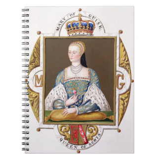 Portrait of Mary of Guise (1515-60) Queen of Scotl Spiral Notebook