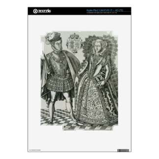 Portrait of Mary, Queen of Scots (1542-87) and Hen iPad 3 Decal