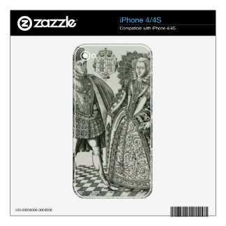 Portrait of Mary, Queen of Scots (1542-87) and Hen iPhone 4 Skin