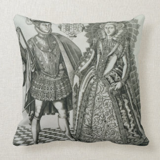 Portrait of Mary, Queen of Scots (1542-87) and Hen Pillow