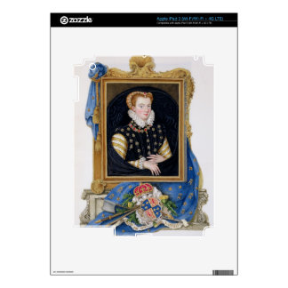 Portrait of Mary Queen of Scots (1542-87) from 'Me Decals For iPad 3