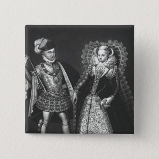 Portrait of Mary Queen of Scots Button