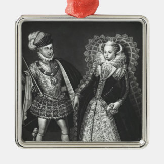 Portrait of Mary Queen of Scots Christmas Tree Ornaments