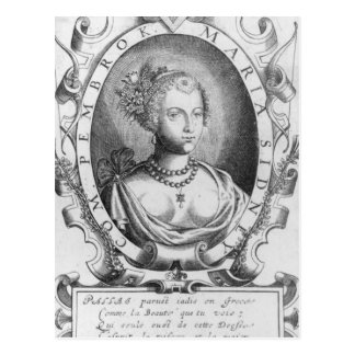Portrait of Mary Sidney, Countess of Pembroke Postcard