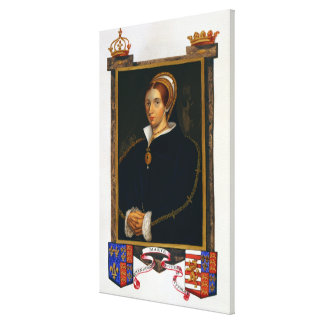 Portrait of Mary Tudor, from 'Memoirs of the Court Canvas Print