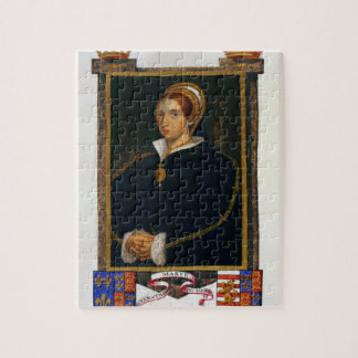 Portrait of Mary Tudor, from 'Memoirs of the Court Puzzle