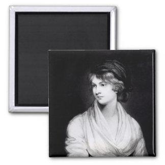 Portrait of Mary Wollstonecraft Godwin 2 Inch Square Magnet
