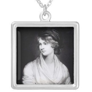 Portrait of Mary Wollstonecraft Godwin Silver Plated Necklace