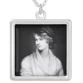 Portrait of Mary Wollstonecraft Godwin Square Pendant Necklace