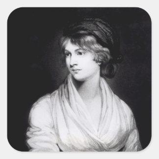 Portrait of Mary Wollstonecraft Godwin Square Sticker