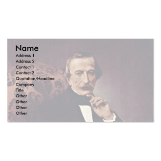 Portrait Of Massimo D'Azeglio., By Hayez Francesco Double-Sided Standard Business Cards (Pack Of 100)