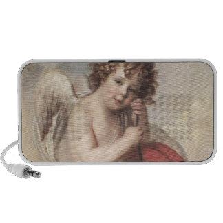Portrait of Master Oswald Fawcett as Cupid (oil on iPod Speaker