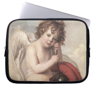 Portrait of Master Oswald Fawcett as Cupid (oil on Laptop Sleeves