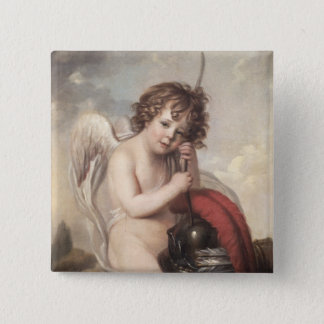 Portrait of Master Oswald Fawcett as Cupid (oil on Pinback Button