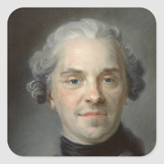 Portrait of Maurice, Comte de Saxe  1747 Square Sticker