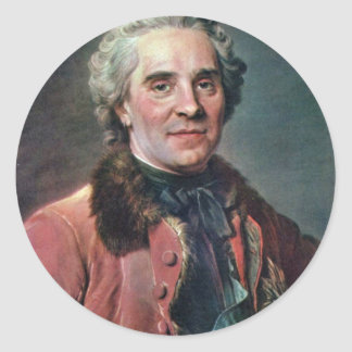 Portrait Of Maurice Comte De Saxe, Marshal Of Fran Classic Round Sticker