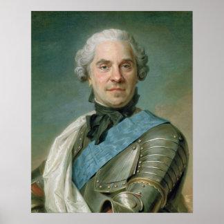 Portrait of Maurice  Comte de Saxe Poster
