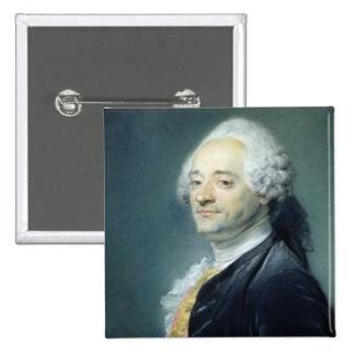 Portrait of Maurice Quentin de la Tour , 1750 Button