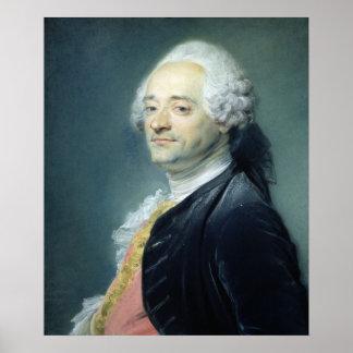 Portrait of Maurice Quentin de la Tour , 1750 Poster