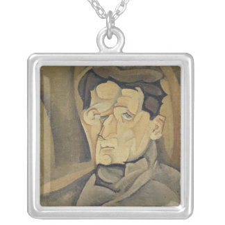 Portrait of Maurice Raynal  1911 Square Pendant Necklace