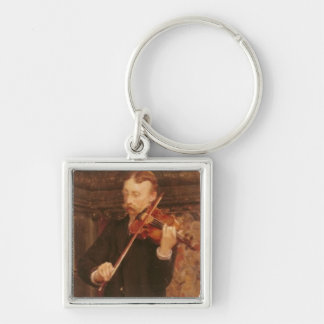 Portrait of Maurice Sons playing the Violin in Alm Keychain