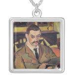 Portrait of Maurice Utrillo  1921 Square Pendant Necklace