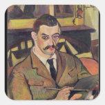 Portrait of Maurice Utrillo  1921 Square Sticker