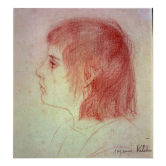 Portrait of Maurice Utrillo as a Child Poster